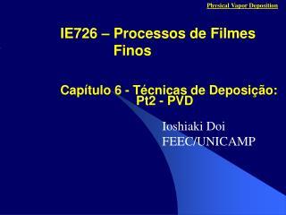 IE726   Processos de Filmes Finos