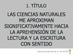 1. T TULO