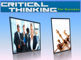 Critical Thinking For Success