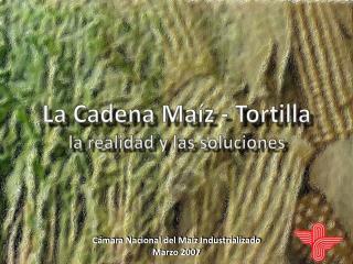 La Cadena Ma z - Tortilla la realidad y las soluciones