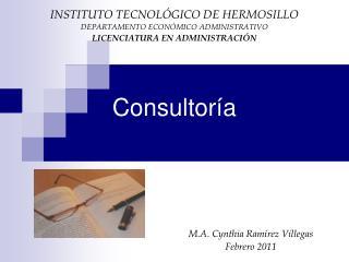 Consultor a