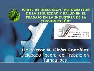 PANEL DE DISCUSION  AUTOGESTION DE LA SEGURIDAD Y SALUD EN EL TRABAJO EN LA INDUSTRIA DE LA CONSTRUCCI N