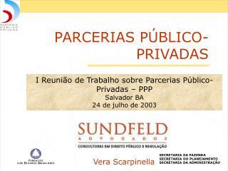 PARCERIAS P BLICO-PRIVADAS