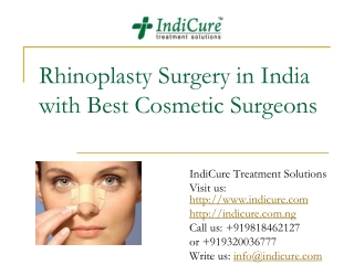 Rhinoplasty in India with best Cosmetic Surgeons