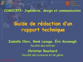 Guide de r daction d un rapport technique