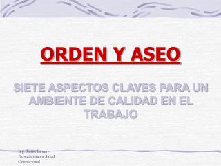 Ing. Jaime Lema - Especialista en Salud Ocupacional