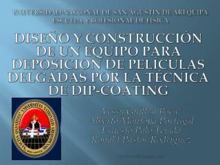 UNIVERSIDAD NACIONAL DE SAN AGUSTIN DE AREQUIPA ESCUELA  PROFESIONAL DE FISICA