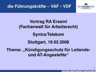 Die F hrungskr fte   VAF  VDF
