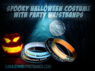 Spooky Halloween Costume with party wristbands
