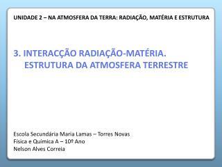 3. INTERAC  O RADIA  O-MAT RIA. ESTRUTURA DA ATMOSFERA TERRESTRE
