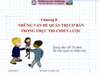Chuong 8 NHNG VN   QUN TR CO BN TRONG THC THI CHIN LUC