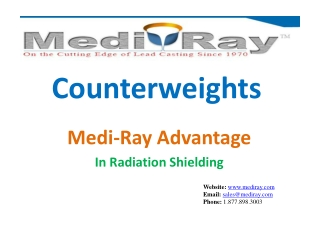 Medi-Ray | Leading Manufacturer of Lead Counterweights
