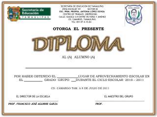 SECRETAR A DE EDUCACI N DE TAMAULIPAS      ZONA ESCOLAR 141          SECTOR 02            ESC. PRIM. PROFRA. ANTONIA L P