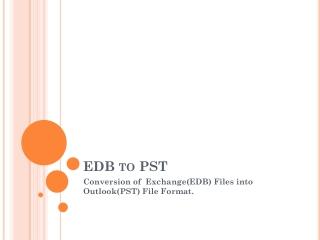 EDB to PST