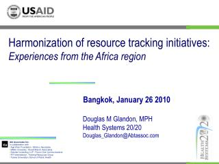 Harmonization of resource tracking initiatives:  Experiences from the Africa region