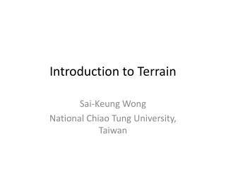 Introduction to Terrain