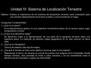 Unidad IV: Sistema de Localizaci n Terrestre