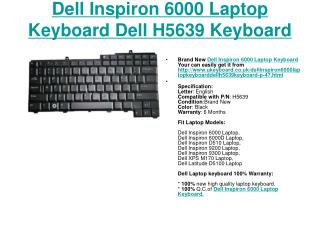 Perfect Dell Inspiron 6000 Laptop Keyboard