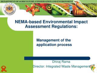NEMA-based Environmental Impact Assessment Regulations: