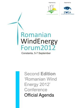 Second Edition  Romanian Wind Energy 2012   Conference Official Agenda