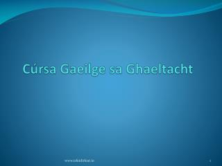 C rsa Gaeilge sa Ghaeltacht