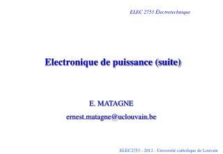 Electronique de puissance suite