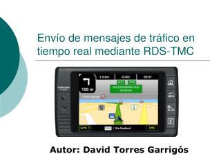 Env o de mensajes de tr fico en tiempo real mediante RDS-TMC