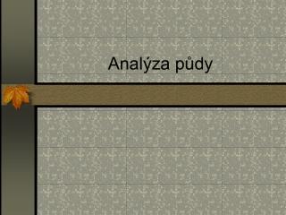 Anal za pudy