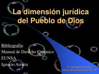 La dimensi n jur dica  del Pueblo de Dios