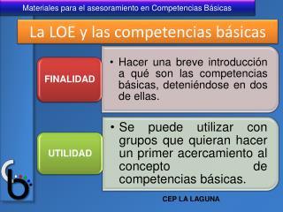 La LOE y las competencias b sicas