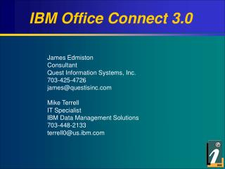 IBM Office Connect 3.0