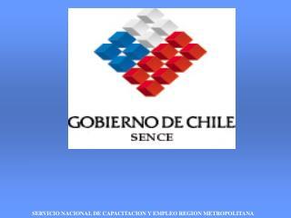SERVICIO NACIONAL DE CAPACITACION Y EMPLEO REGION METROPOLITANA