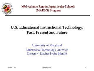 U.S. Educational Instructional Technology: Past