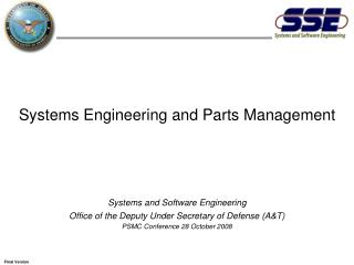 Systems Engineering and Parts Management