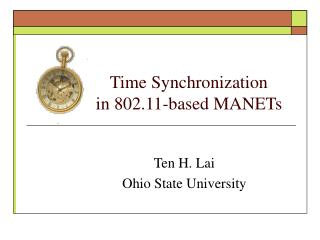 Time Synchronization              in 802.11-based MANETs