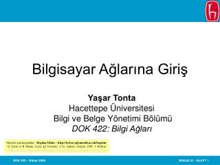 Bilgisayar Aglarina Giris