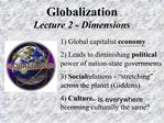 Globalization Lecture 2 - Dimensions