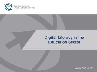 Digital Literacy in the