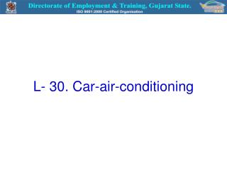 L- 30. Car-air-conditioning