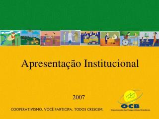 Apresenta  o Institucional