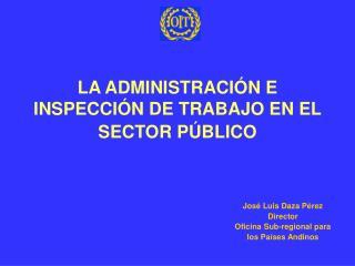 LA ADMINISTRACI N E INSPECCI N DE TRABAJO EN EL SECTOR P BLICO