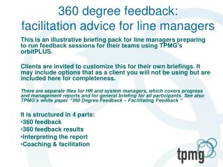 360 degree feedback: facilitation advice for line managers