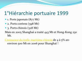 1 Hi rarchie portuaire 1999