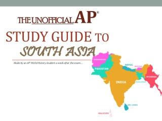 AP World Study Guide to South Asia