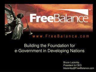 Bruce Lazenby President  CEO blazenbyFreeBalance