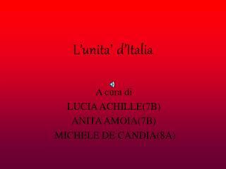 L unita  d Italia