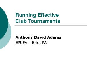 Running Effective