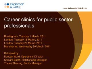 Career clinics for public sector professionals