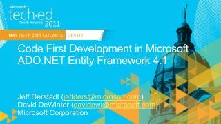 Code First Development in Microsoft ADO Entity Framework 4.1