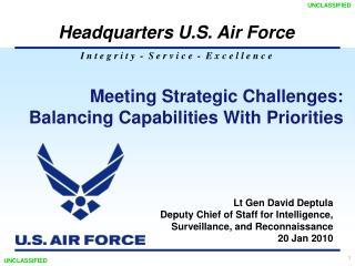 Meeting Strategic Challenges:  Balancing Capabilities With Priorities